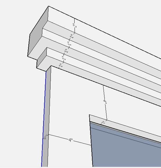 close up digital image of farmhouse window trim plans
