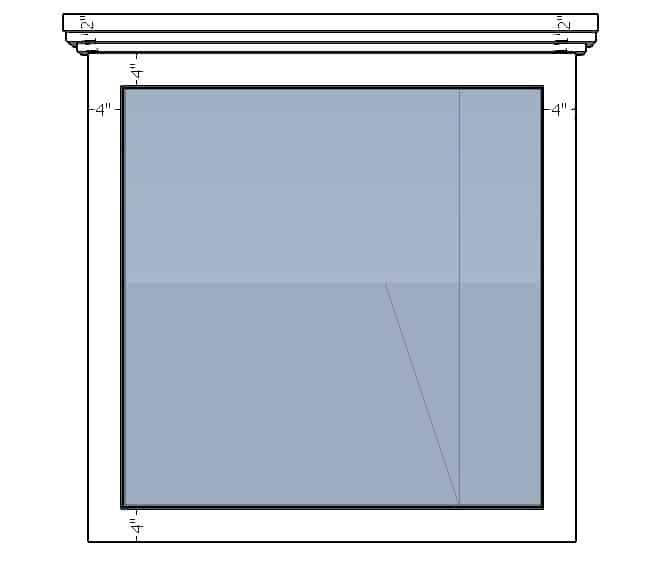 digital markup of farmhouse window trim plans