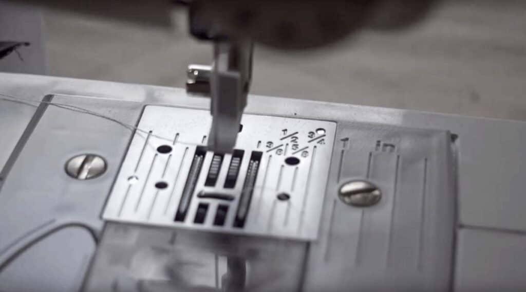 sewing machine seam plate