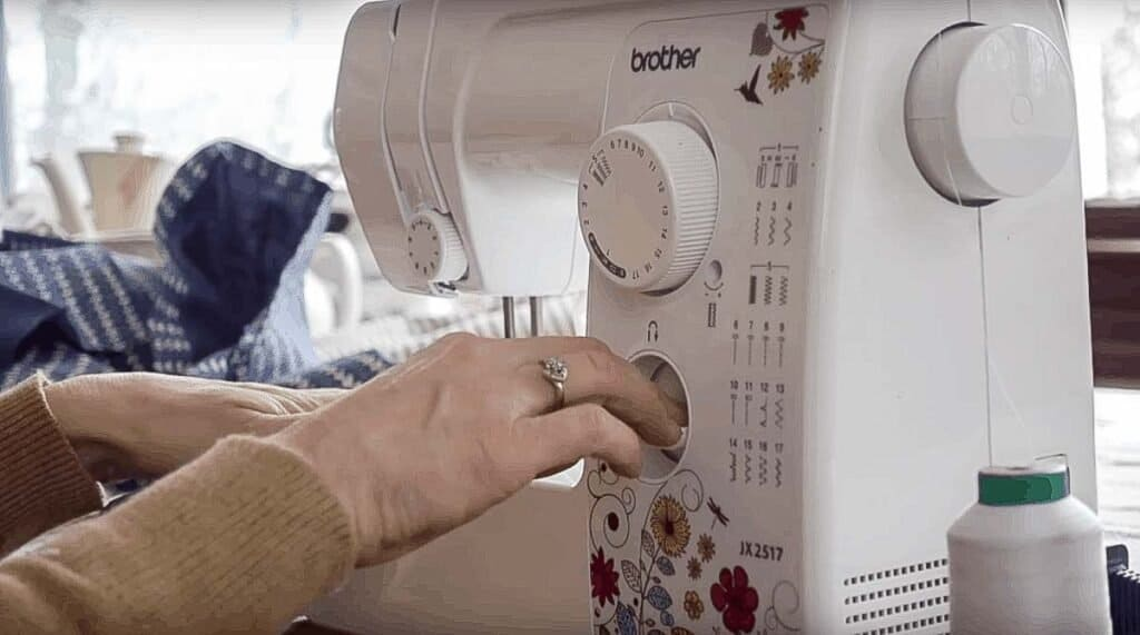 creating a back and fourth stitch to secure a seam