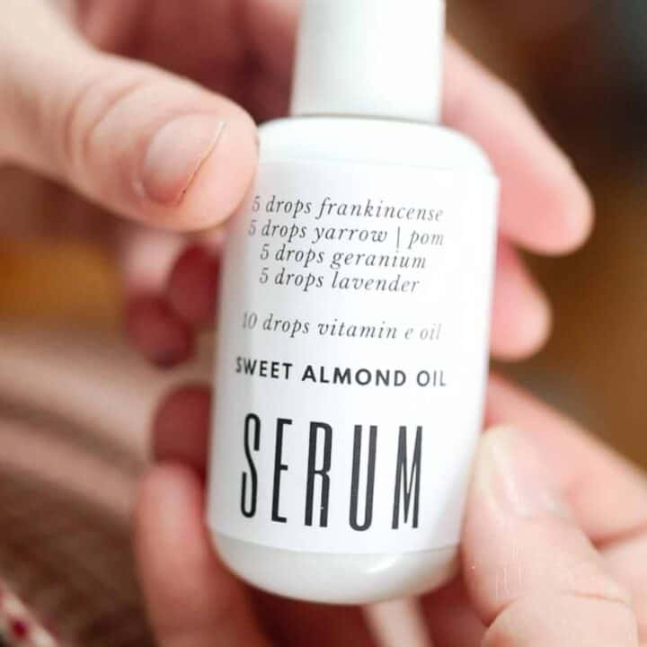 hands holding DIY serum