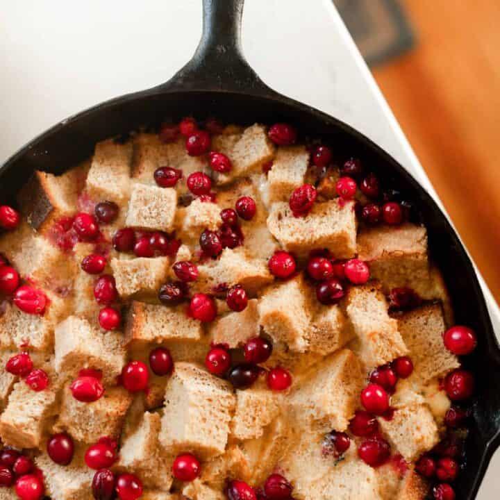 Cranberry Sourdough French Toast Casserole