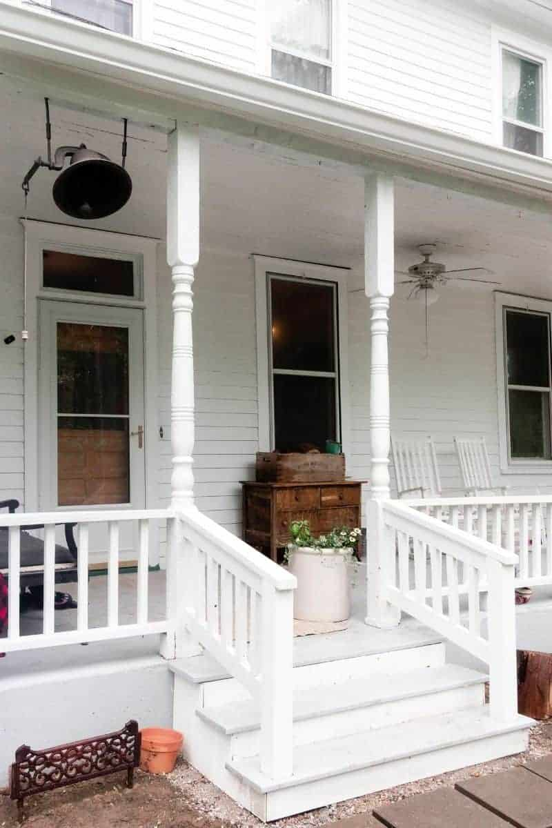 How To Build Front Porch Steps   Farmhouse on Boone